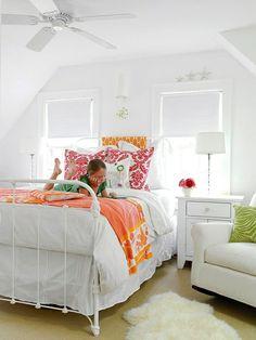 Chambre ado fille en 65 idées de décoration en couleurs | Bedrooms