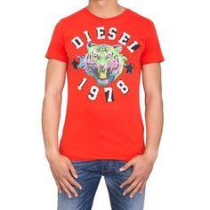 Tee shirt Diesel The King Rouge  - marque : Diesel Tee shirt Diesel The King Rouge Tshirt col rond Manches courtes Uni Motif centré... prix : 24.90 EUR €  chez C MOD #Diesel #CMOD