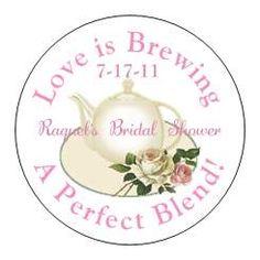 Bridal Shower Tea Party Favors Personalized Tea Wedding Favors