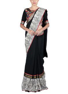 Latha Puttanna | Kalamkari Crepe Saree | Shop Sarees at strandofsilk.com