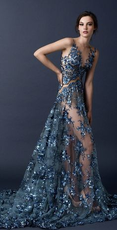 I'M IN LOVE!!! It looks more nightgown than dress, but it's a stunner! Paolo Sebastian Couture Fall/Winter 2014-2015