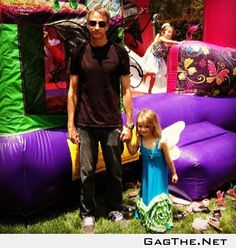 """""""When your daughter asks you to be a fairy for her 5th birthday party, you better be a damned fairy"""""""