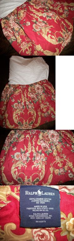 Bed Skirts 20450: New Ralph Lauren Marseilles Danielle Twin Bed Skirt 15 Drop Red Floral -> BUY IT NOW ONLY: $35 on eBay!