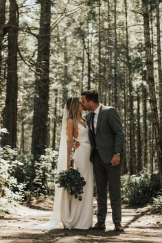 Moody and romantic post-wedding forest shoot on Hornby Island, Canada | image by Nomad by NK #weddingphotoinspiration #weddingphotoideas #weddingportrait #couple #cutecouple #forestwedding #weddingdress #bridalportrait #bridalstyle #bridalfashion #bridalinspo #bridalinspiration #bride