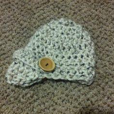 crochet chunky newsboy beanie by Mottley Creations.  www.Facebook.com MottleyCreations Chunky. Chunky CrochetBeanieBonnet  HatBeanies 32db88088547