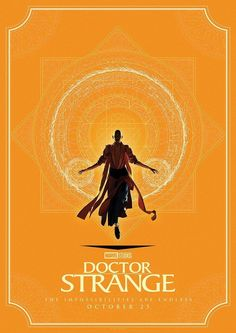 Marvel and Matt Ferguson (Lord Of The Rings, Guardians of the Galaxy) have released four brand new stylized posters for Doctor Strange, featuring the titular hero, The Ancient One and more. Poster Marvel, Marvel Comics, Films Marvel, Marvel Heroes, Marvel Avengers, Crazy Movie, Love Movie, Ps Movie, Marvel Universe