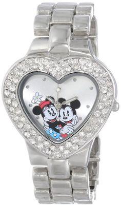 Disney Women's MN2003 Mickey and Minnie Mouse Silver Dial Bracelet Watch Disney http://www.amazon.com/dp/B002UUUNGY/ref=cm_sw_r_pi_dp_IZ-eub10GT6X1
