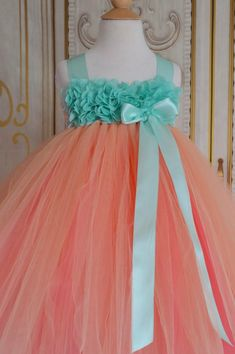 b5328ee4e66 59 Best Coral Flower Girl Dresses images
