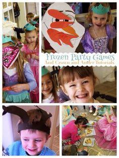 Frozen party games with instructions and free printables!