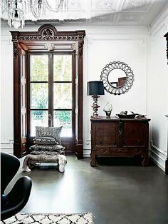 for ground floor: cabinet, lamp   malene birger   Habitually Chic