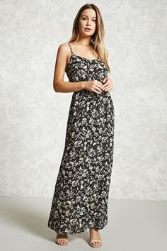 51bcdc196751 FOREVER 21+ FLORAL MAXI DRESS Red Dress Casual, Forever 21 Dresses,  Backless Maxi