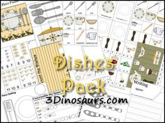 3 Dinosaurs - Dishes Pack
