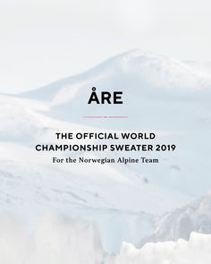 Get ready for the Alpine World Championship with Åre sweater. The Official sweater for the Norwegian Alpine Team 2019 🇧🇻️ Get it now in one of our stores, retailers or webshop⛷ ———————————————————————- Winter Olympic Games, Winter Olympics, Ski Sweater, Olympic Committee, Get It Now, World Championship, Norway, Instagram Posts, Knitwear