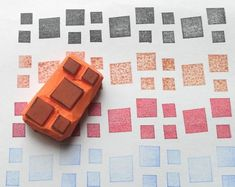 Hand Carved Rubber Stamps by HVasilevShop Stamp Carving, Handmade Stamps, Fabric Stamping, Linoprint, Triquetra, Stencil Diy, Art Plastique, Triangles, Screen Printing