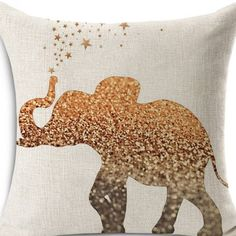 Elephant Pillow Cover by terrydesigns on Etsy