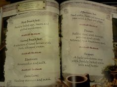 Hobbit meals