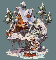 Cottage, Krzysztof Maziarz on ArtStation at https://www.artstation.com/artwork/KBWEG