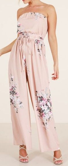 82b795553ba4 Check It Out Jumpsuit In Mocha Floral