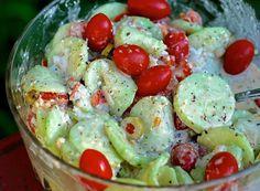 grandma's creamy italian cucumber salad | ChinDeep