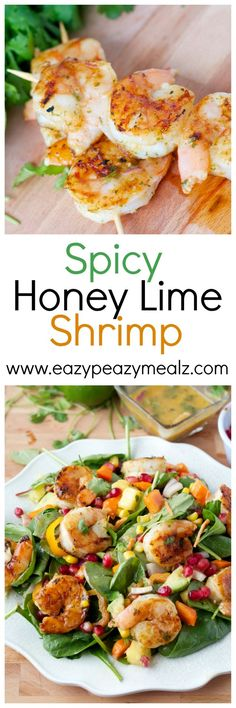 Spicy Honey Lime Shrimp: A perfect tangy and sweet marinade with just the right amount of spice. Perfect for salads or game day! So versatile. - Eazy Peazy Mealz