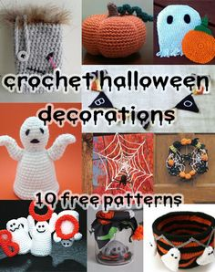 Spooky and Crafty Crochet Halloween Decorations: 10 free patterns on mooglyblog.com