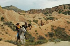 Horse Back Riding through Cappadocia Take a horse back ride in Cappadocia for 2 hours in the valleys of Göreme National Park. You'll pass through Swords Valley, Rose Valley, Cavusin Village, and Love Valley. A perfect tour for any nature lover.Experience the natural beauty of Göreme in a unique and memorable way. On horseback, you will explore sweeping valleys and reach hidden scenic lookouts that may be difficult or impossible to reach on foot. At sunrise, watch hu...