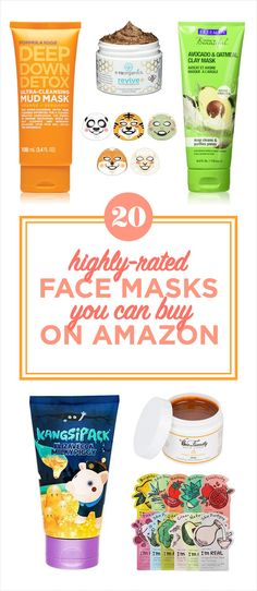 20 Of The Best Face Masks You Can Buy On Amazon Face Wash, Repeat, Selfies, Selfie