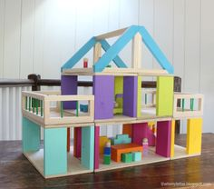 Ana White and That's My Letter: DIY Modular Dollhouse & Furniture ... easy and awesome!