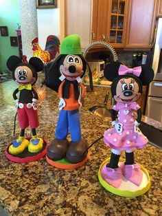 I made these Disney Fofusha dolls for Mickey Mouse Clubhouse party