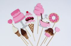 Photo Booth Props Sweet Shop Shoppe Party - Perfect for a Little Princess Party, Ice Cream Parlor