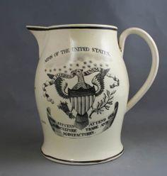 Creamware jug made for the American market, circa 1790