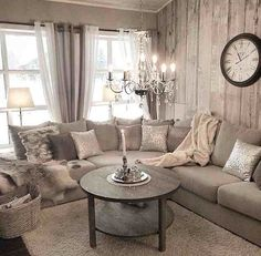 creams & greys will form my living room style.... With a touch of fur, metallic accessories & a collection of vintage photo frames with black & white prints!