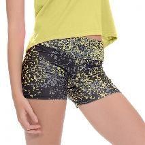 Short LYCRA® de seda estampada amarillo