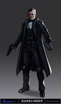 Cyntopia - Gunslinger Concept Art by SaturnoArg | Create your own roleplaying game books w/ RPG Bard: www.rpgbard.com | Pathfinder PFRPG Dungeons and Dragons ADND DND OGL d20 OSR OSRIC Warhammer 40000 40k Fantasy Roleplay WFRP Star Wars Exalted World of Darkness Dragon Age Iron Kingdoms Fate Core System Savage Worlds Shadowrun Dungeon Crawl Classics DCC Call of Cthulhu CoC Basic Role Playing BRP Traveller Battletech The One Ring TOR fantasy science fiction horror