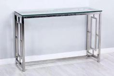entradas y mesas en acero y cristal en www.virginia-esber.es