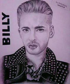 Billy #tokiohotel  Dibujo a lápiz carbón
