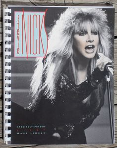Vintage 1980s Stevie Nicks I Can't Wait Maxi Single Record Album Recycled / Upcycled LP Cover Blank Comb-Bound Journal