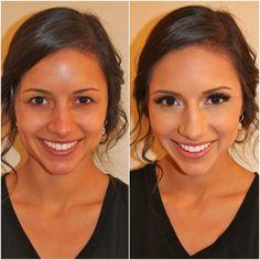 Light and natural-beauty enhancing bridal makeup! #Airbrushskin Kissable Complexions Bog makeup tips!