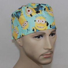 Men's Surgical Scrub Cap-Minions 61196 by HatEnvyScrubHats on Etsy