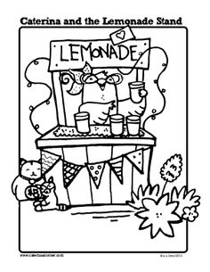 1000 images about caterina printables on pinterest free for Lemonade coloring page