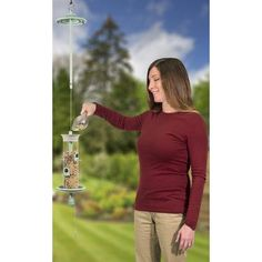 Effortless Products LLC Mix Tube Bird Feeder Color: Green