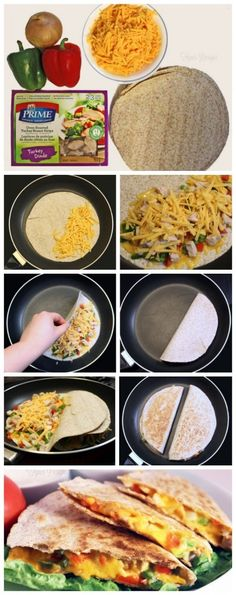 How to make chicken quesadillas from fynesdesigns.com
