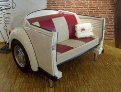 19 DIY Automotive Furniture Car Part Ideas (Update Car Part Furniture, Automotive Furniture, Automotive Decor, Funky Furniture, White Furniture, Kids Furniture, Furniture Making, Bedroom Furniture, Furniture Design
