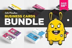 Cute Monsters Business Card Bundle by Odin_Design on Creative Market