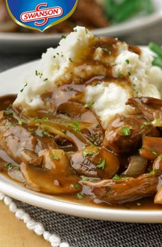 Tender slices of beef skirt steak combine with sautéed onion, mushrooms and garlic in a savory sauce made with balsamic vinegar and beef gravy. It's a tasty skillet dish that really delivers! Beef Skirt Recipes, Crockpot Recipes, Cooking Recipes, Healthy Recipes, Steak And Mushrooms, Stuffed Mushrooms, Skirt Steak In Crockpot, Steaks, Steak Recipes Stove