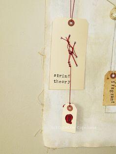 Original art on tags, String Theory