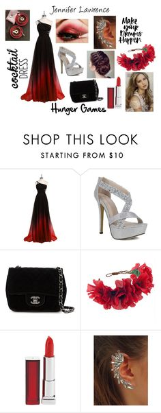 """Hunger Games"" by dream-angel-44 ❤ liked on Polyvore featuring Chanel, Rock 'N Rose and Maybelline"