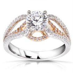 18k Two-tone Gold 1 1/2ct TDW Diamond Engagement Ring