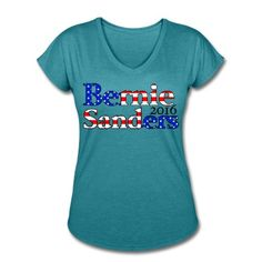 This Bernie Sanders 2016 Womens V-Neck Tri-Blend T-Shirt. Women's T-Shirt designed by xzendor7. Available in many sizes and colors. Buy your own Women's T-Shirt with a Bernie Sanders 2016 Womens V-Neck Tri-Blend T-Shir design at Awesomequotes Spreadshirt Shop, your custom t-shirt printing platform! - http://awesomequotes.spreadshirt.com/bernie-sanders-2016-stars-stripes-womens-v-neck-tri-blend-t-shirt-A102131977