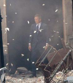"polabatch: ""Daniel Craig keeps his cool as he walks through massive explosion on Mexican set of new James Bond film Spectre """